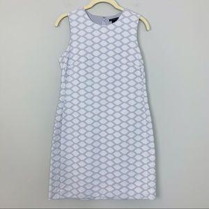THEORY Gray Shift 2 Mayberry Jacquard Dress Size 2